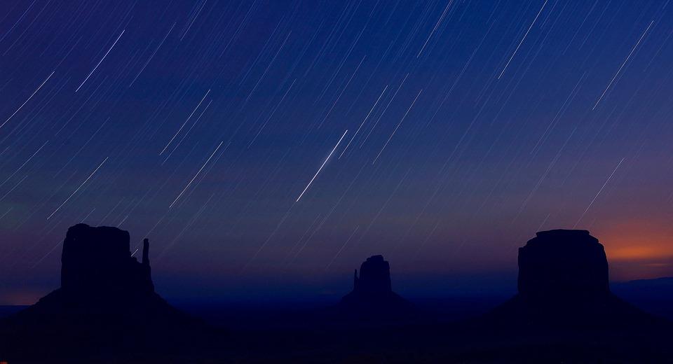 Startrails, Monument Valley, Night, Arizona
