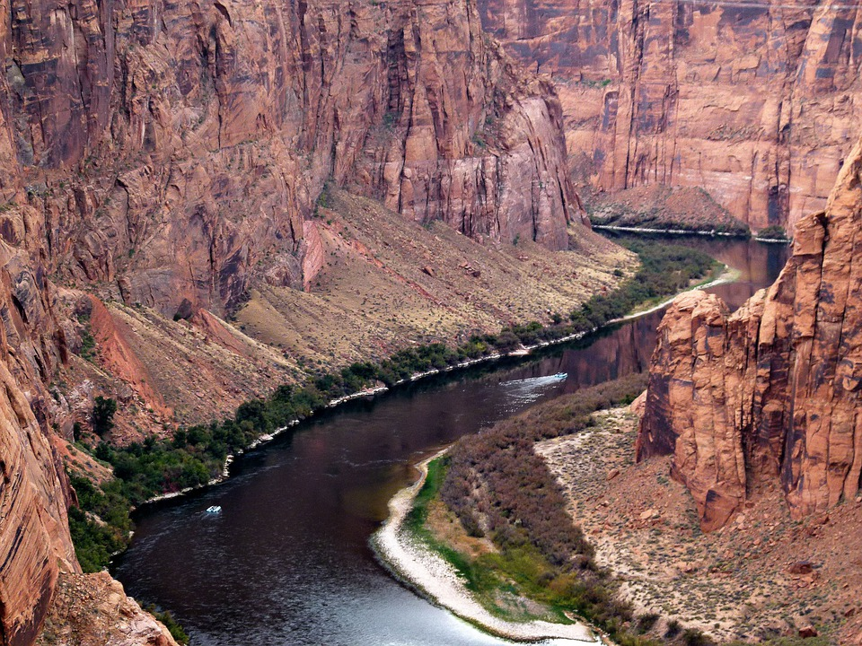 Colorado River, River, Water, Arizona, Usa, Glen Canyon