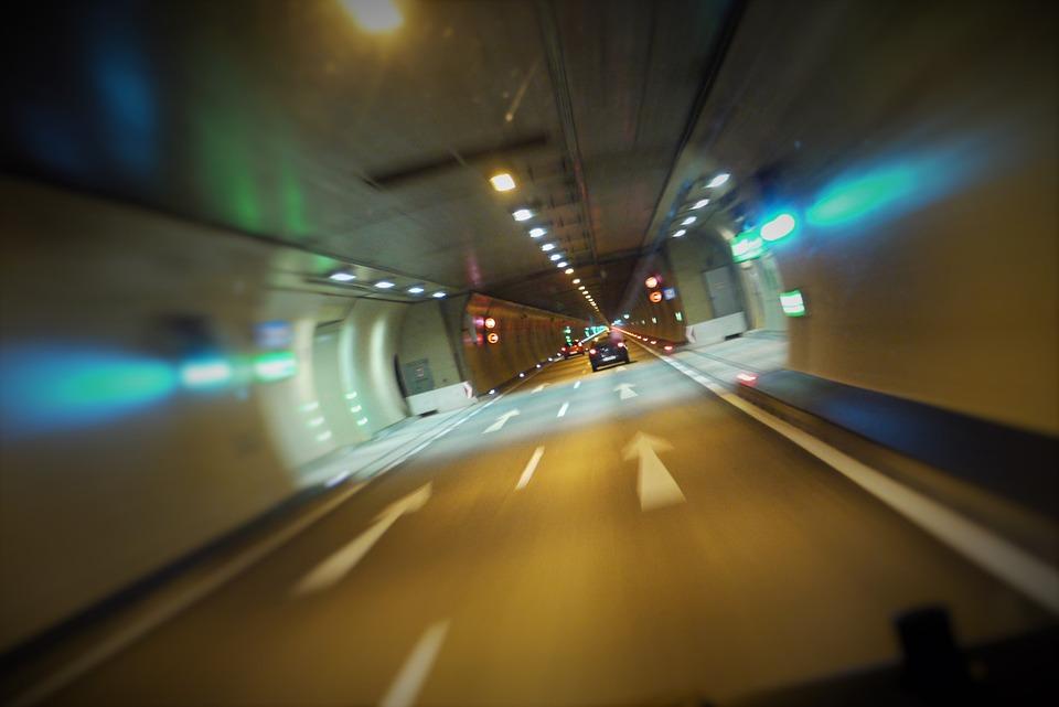 Highway, Tunnel, Drive, Speed, Underground, Arlberg