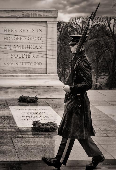 Arlington, Soldier, Tomb, Honor, Guard, Sentinel