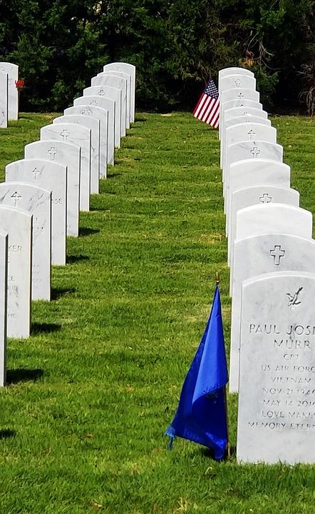 Arlington, Tombstones, Graveyard, Cemetery, Memorial