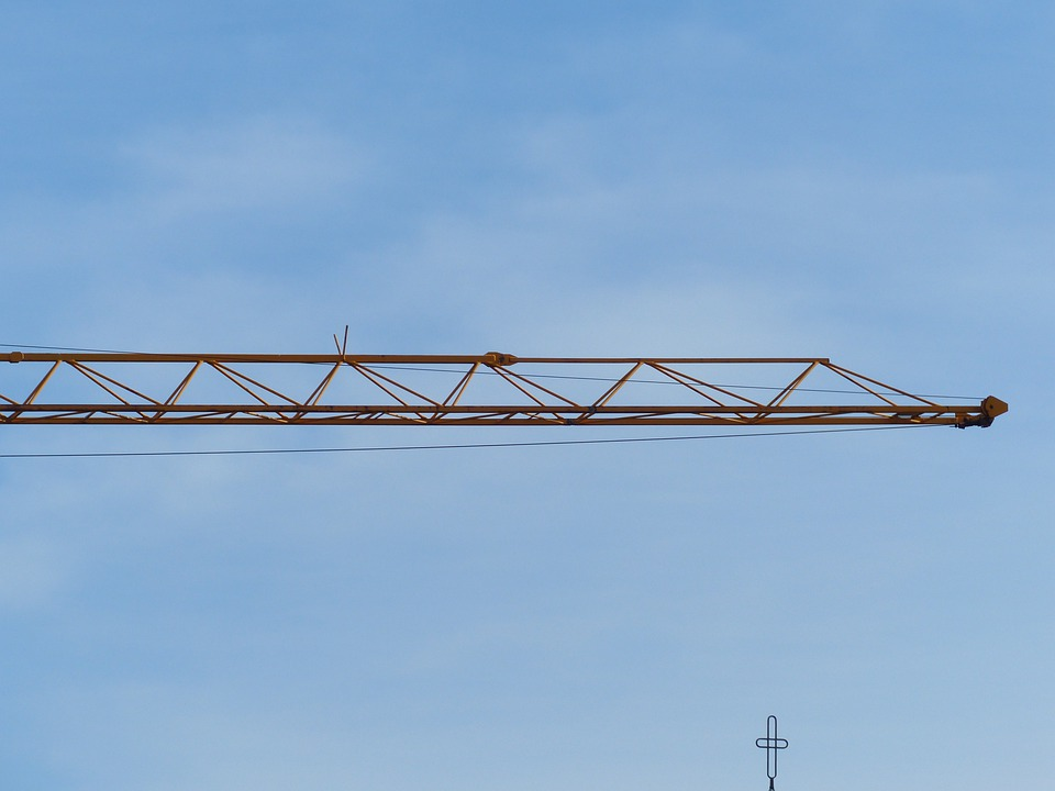 Crane, Baukran, Site, Sky, Build, Lift Loads, Last, Arm
