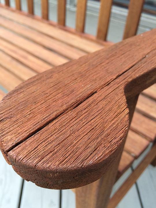 Old, Wood, Furniture, Bench, Arm, Cracked, Split, Dry