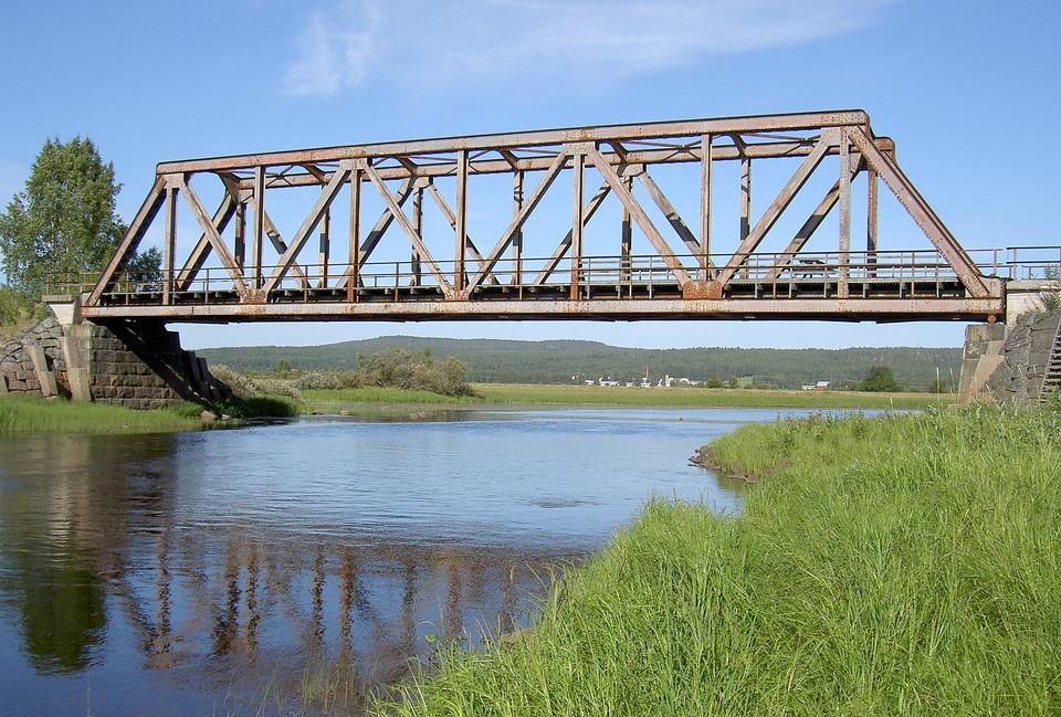Armasjoki, Railway Bridge, River, Sweden, Crossing