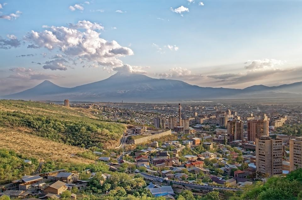 Armenia, Yerevan, Ararat, City, Mountains, Landscape