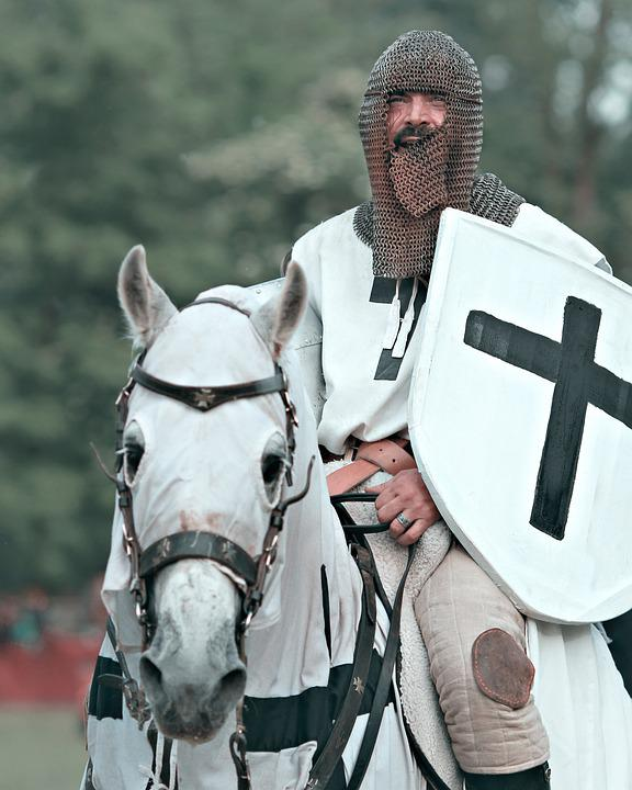 Knight, Middle Ages, Armor, Shield, Horse, War, Templar