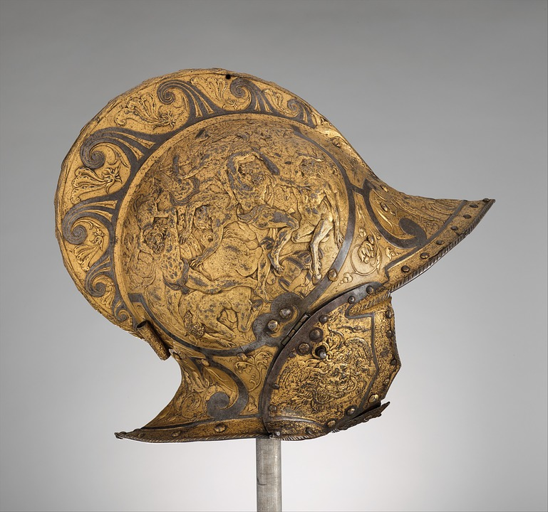Burgonet, Helmet, Medieval, Armour, Chivalry, Europe