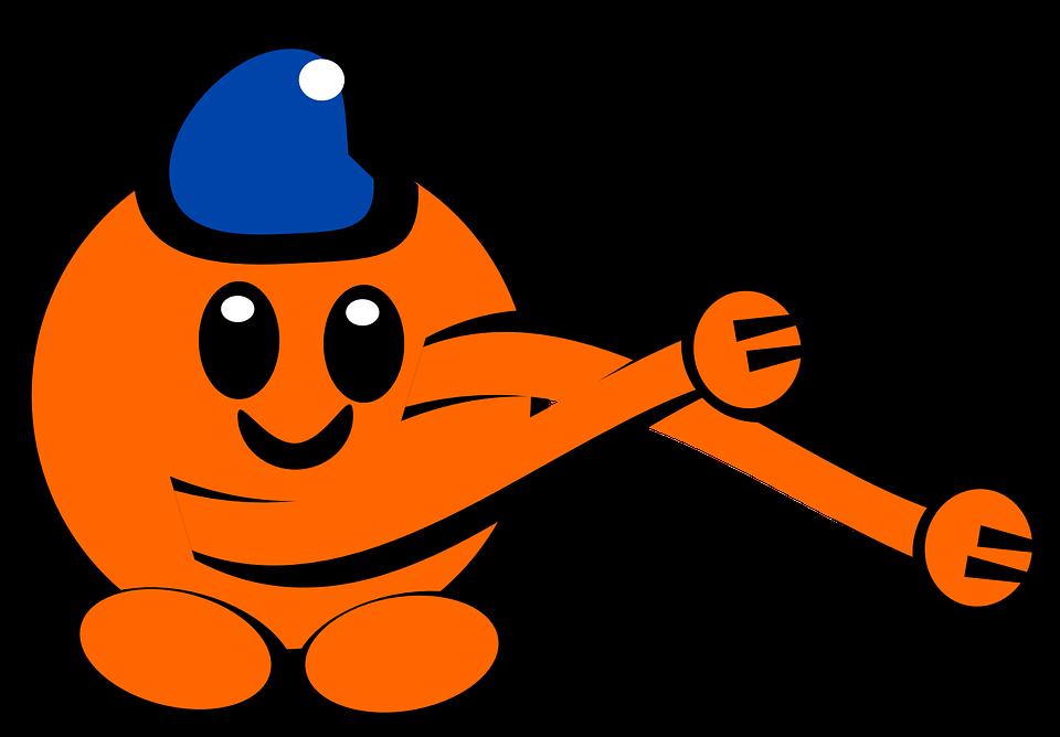 Figure, Orange, Arms, Happy, Long Arms