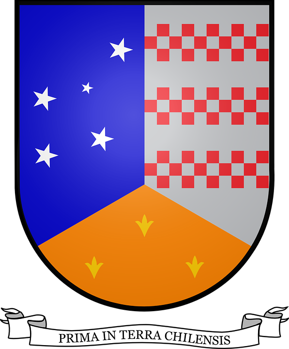 Coat, Arms, Chile, Blue, Stars, Insignia