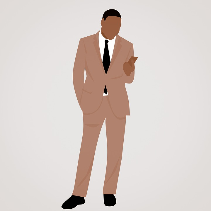 African American, African, Businessman, Arms, Suit, Yes