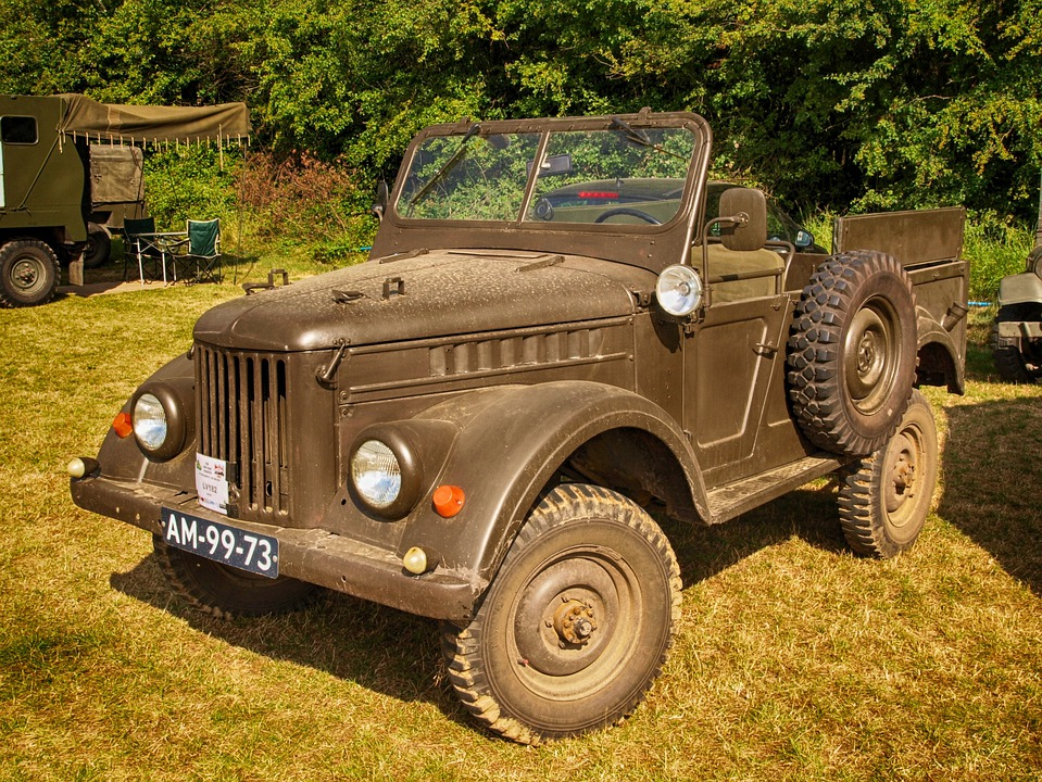 Jeep, Military, Army, Old, Classic, Vintage, Hdr