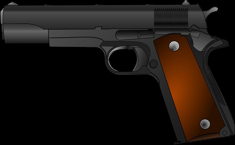 Gun, Weapon, Pistol, Handgun, Army, Revolver, Shotgun