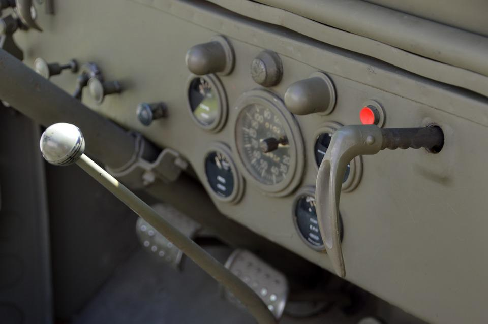 Military Vehicle, Army, Retro, Vintage, Jeep, Dashboard