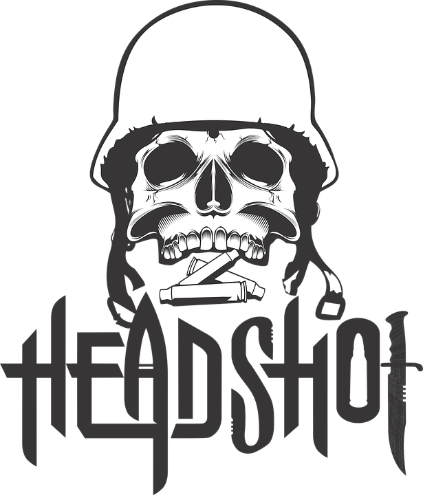 Printing On T-shirt, Skull, Helmet, Shot, Army, Soldier