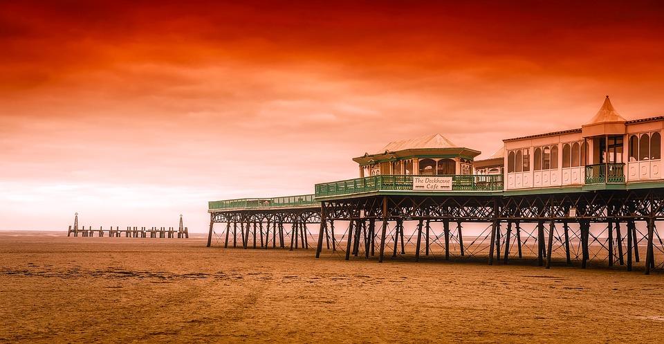 Arnsdale, England, Great Britain, Pier, Sea, Ocean