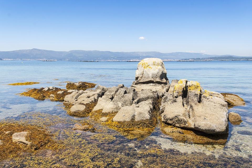 Coast, Rocks, Arousa Island, Arousa, Galicia