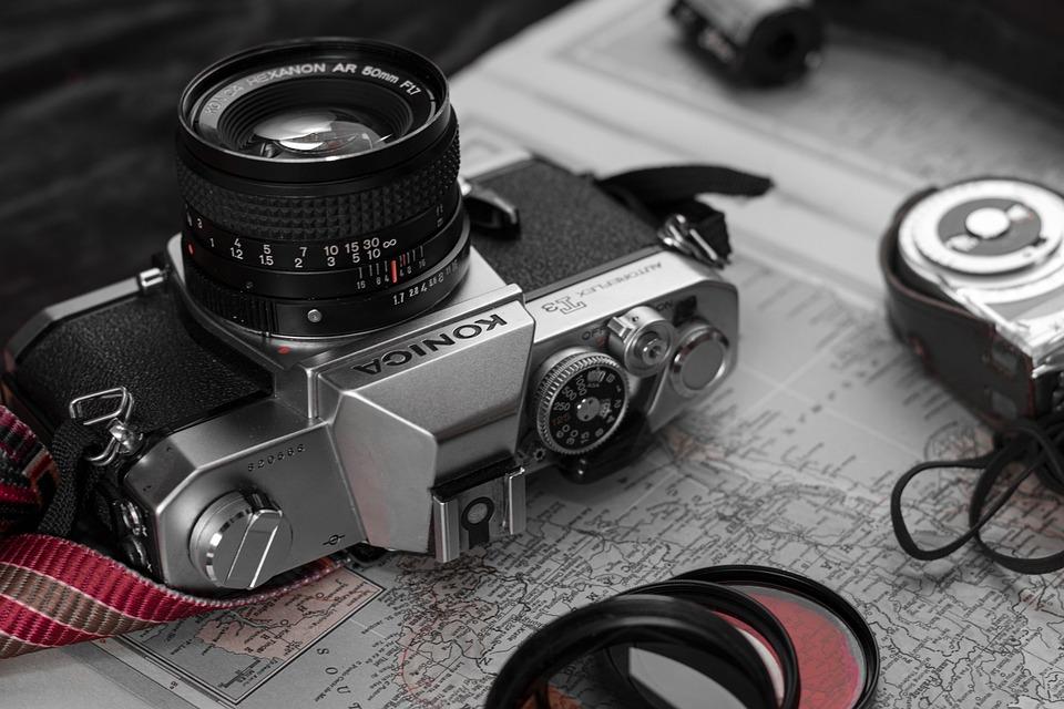 Camera, Selective Colour Photography, Arranged Image