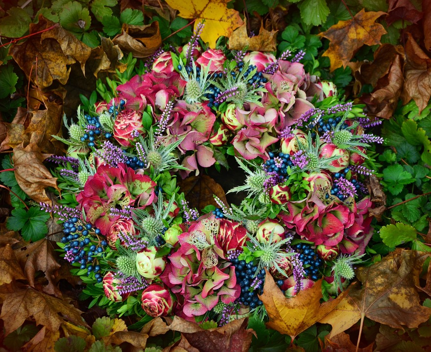 Autumn, Wreath, Arrangement, Decoration, Floral Wreath