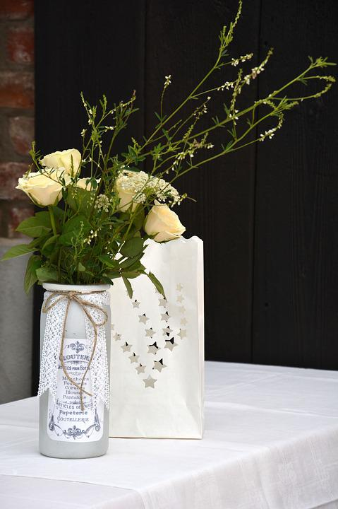 Thank You, Arrangement, Flowers, Roses, Decorative