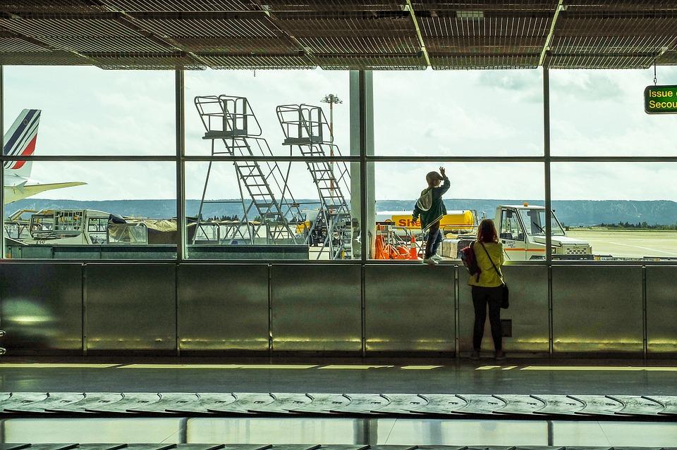 Airport, Terminal, Arrivals, Transportation, Window