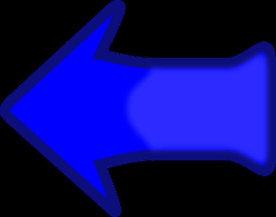 Arrow, Left, Previous, Sign, Symbol, Icon, Blue