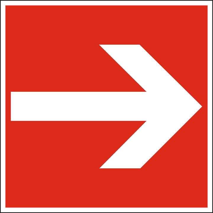 Arrow, Right, Red, Way, Direction, Sign, Symbol, Icon