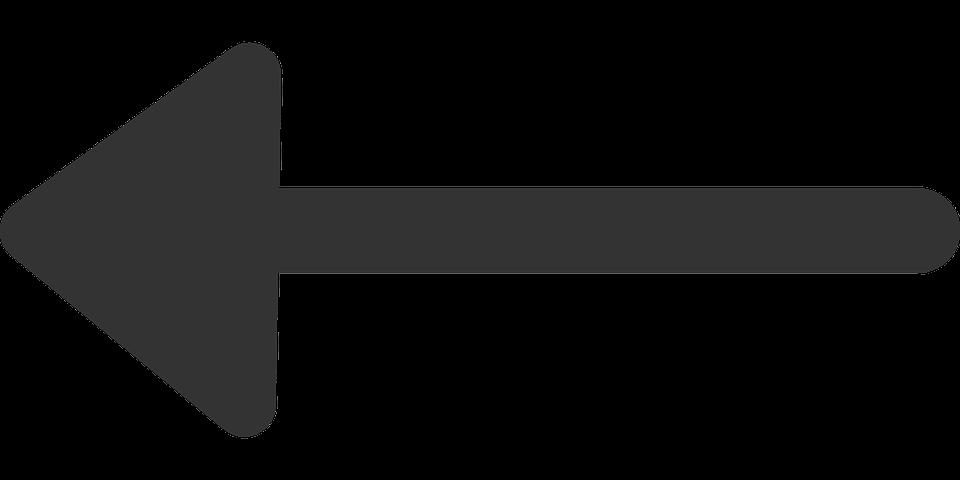 Arrow, Left, Back, Direction, Symbol, Pointer