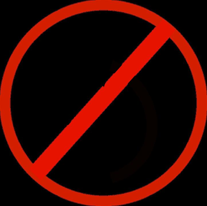 Forbidden, Sign, Turn Left, Straight, Arrows