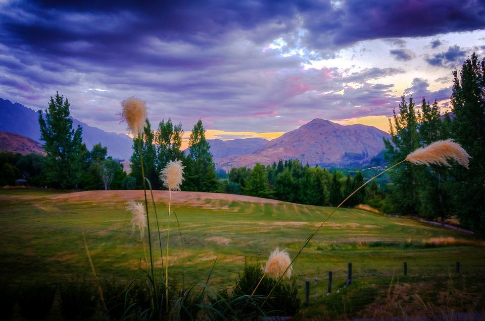 Arrowtown, New Zealand, Mountains, Landscape
