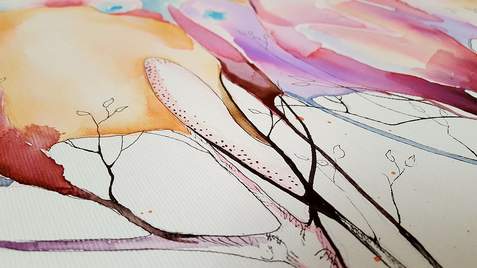 Free photo Art Abstract Watercolor Canvas Coloring Painting - Max Pixel