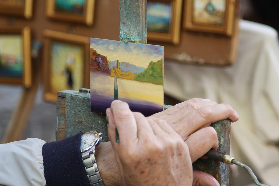 Painter, The Framework, Art, Glimpse, Malcesine, Arc