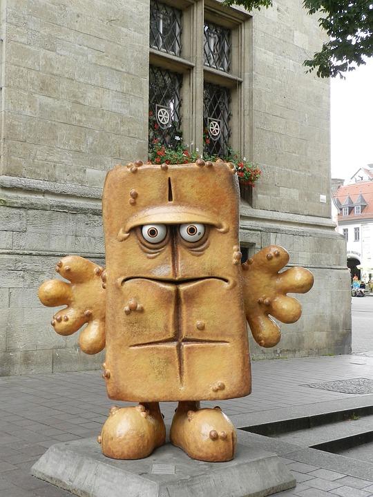 Sculpture, Art, Erfurt, Bernd The Bread
