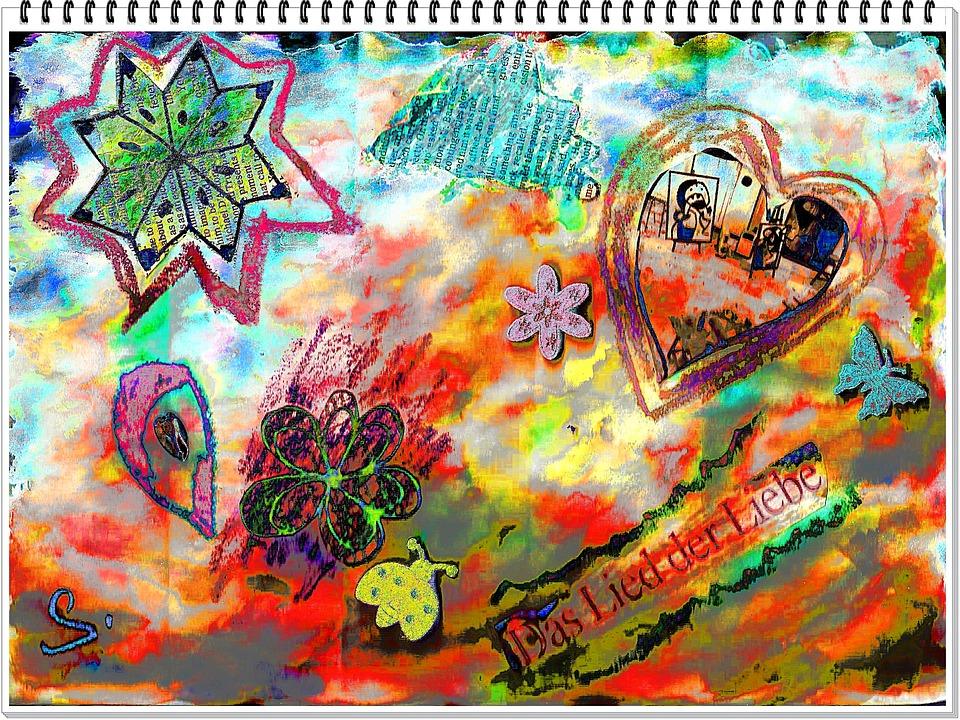 Art, Abstract, Collage, Painting, Design