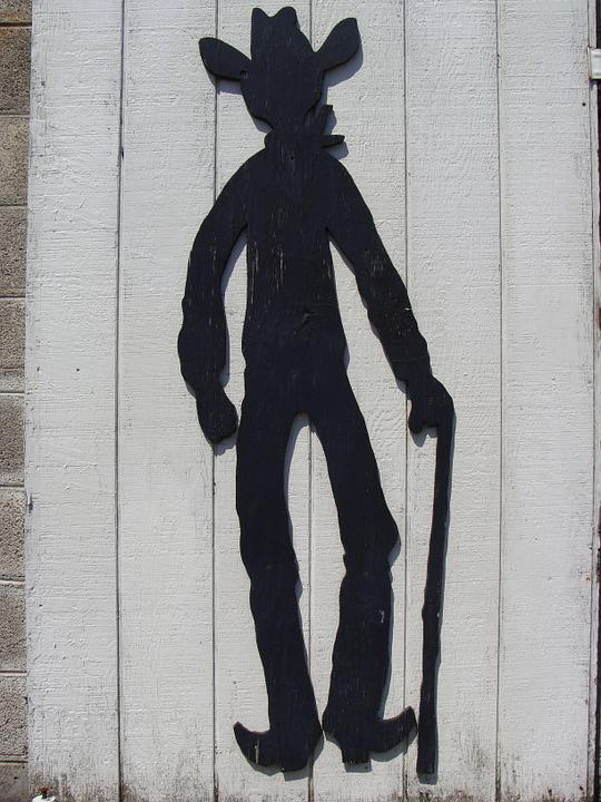 Cowboy, Country, Cane, Art, Figure, Silhouette