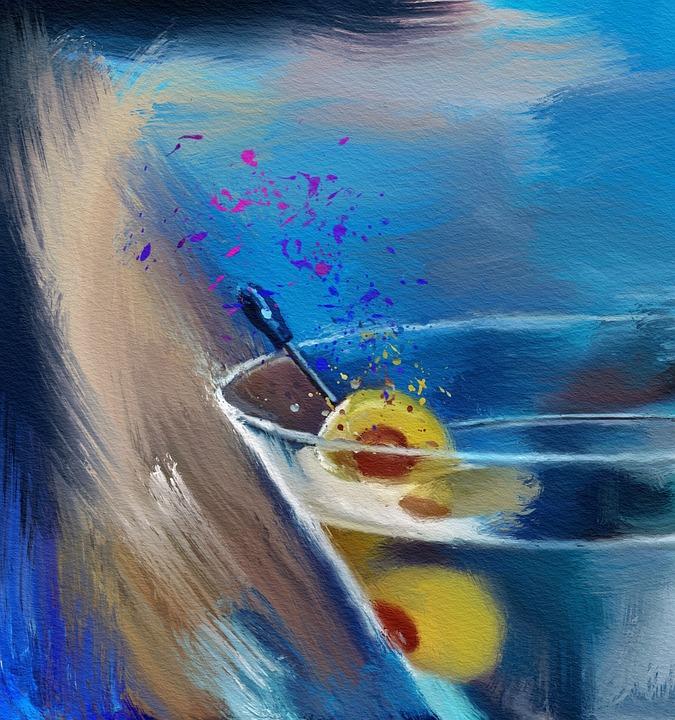 Water, Summer, Swimming, Art, Creativity, Color