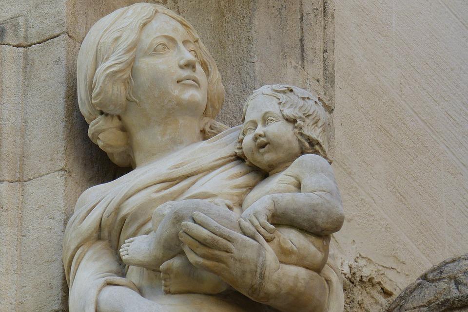Art, Decor, Virgin And Child Statue, Avignon