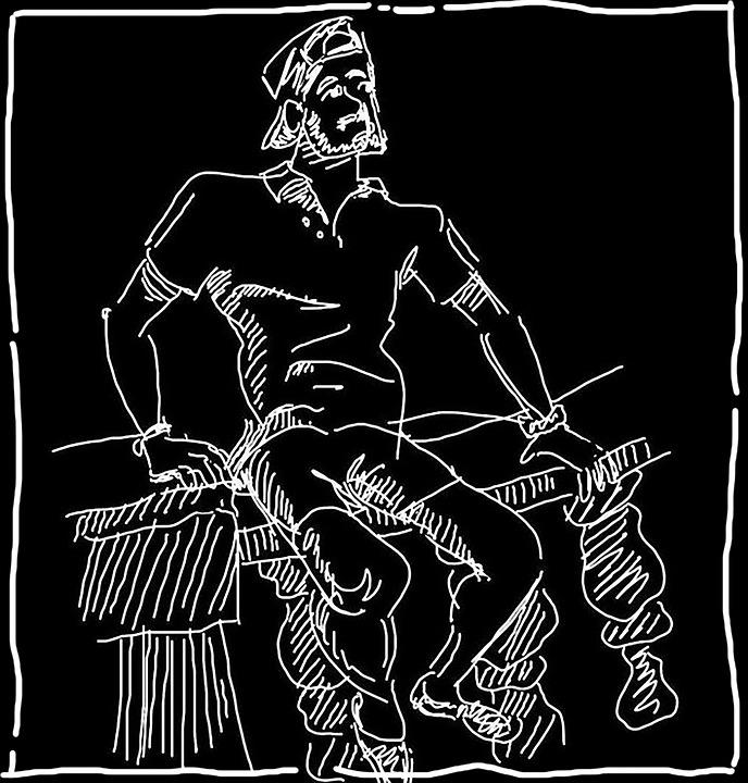 Man, Sketch, Drawing, Figure, Art, Pose