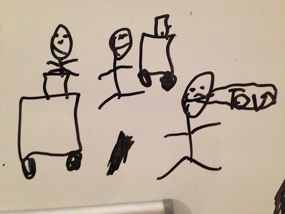 Whiteboard, Drawing, Painting, Crayon, Art, Cartoon