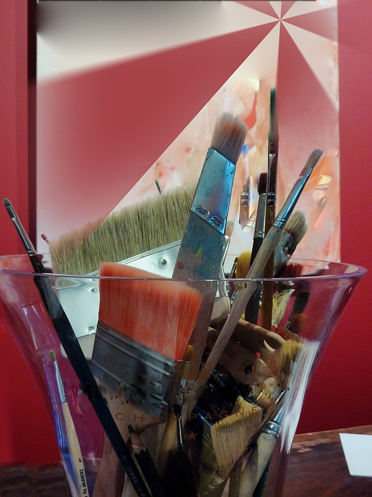 Paint, Hollyhock, Brush, Art, Dynamic, Draw, Painting