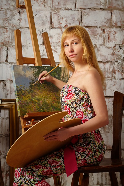 Artist, Easel, Art, Picture, Painting, Creativity