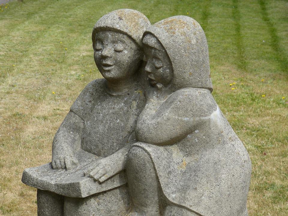 Figure, Sculpture, Art, Stone Figure, Child, Children