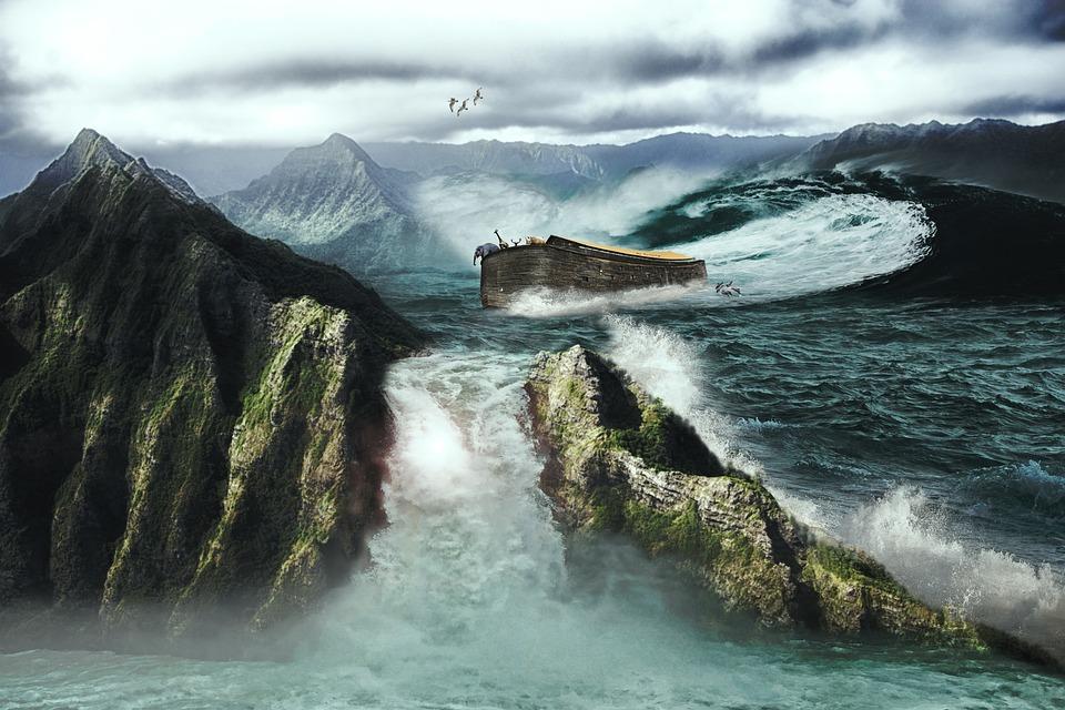 Archenoah, Ship, Animals, Art, Flood, Wood