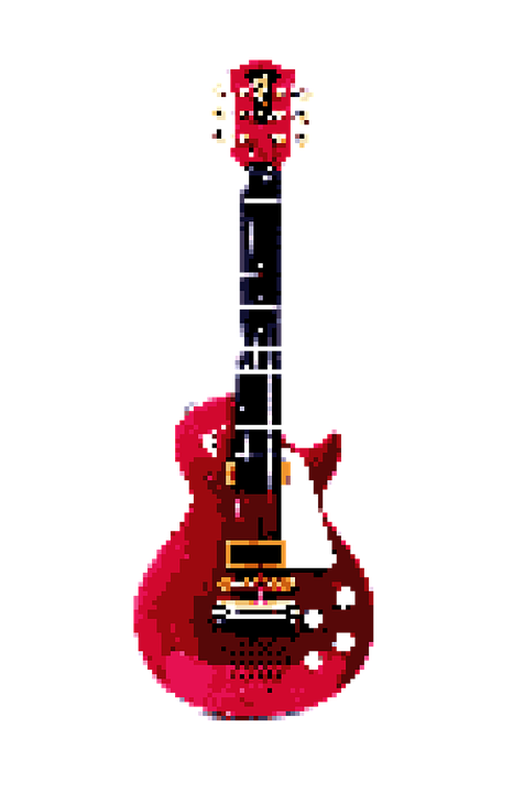 Pixel, Mine, Art, Guitar, Music