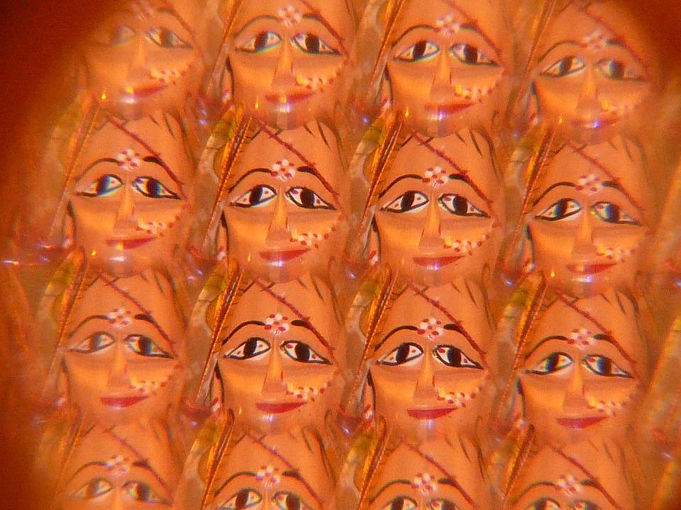 Mask, Face, Kaleidoscope, Art
