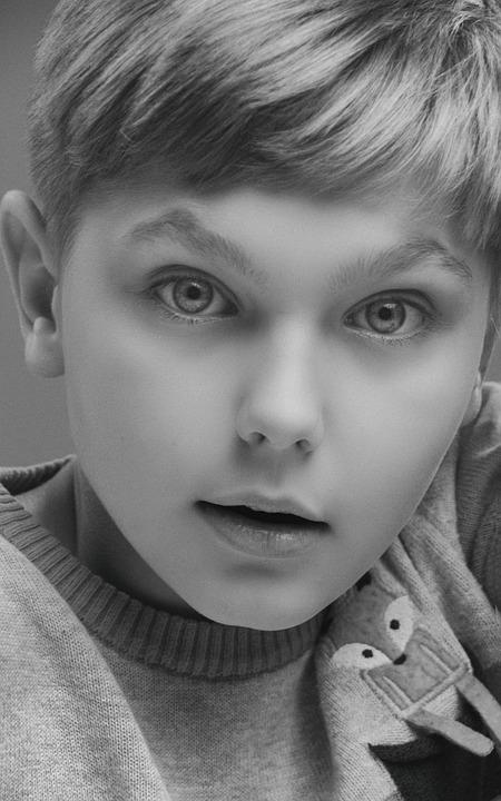 Studio, Monochrome, Art, Boy