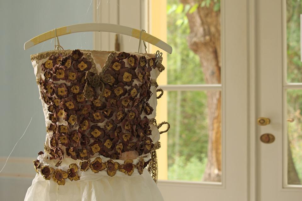 Art, Paper Art, Coat Hanger, Paper Dress, Issued