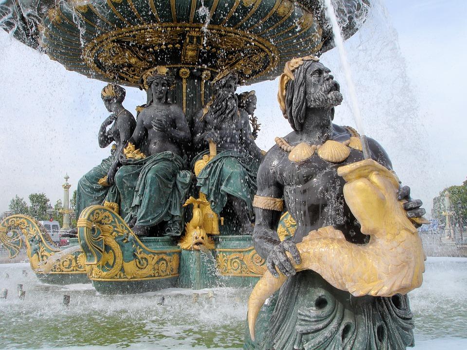 Paris, Place De La Concorde, Image, Sculpture, Art