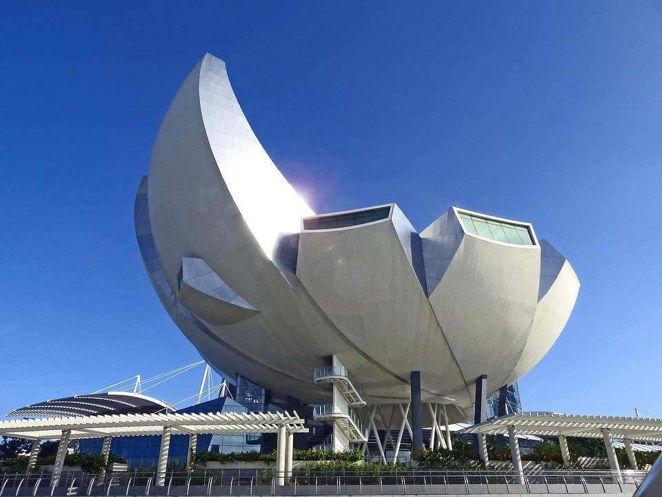 Singapore, Art Science Museum, Blue Sky, Landmark
