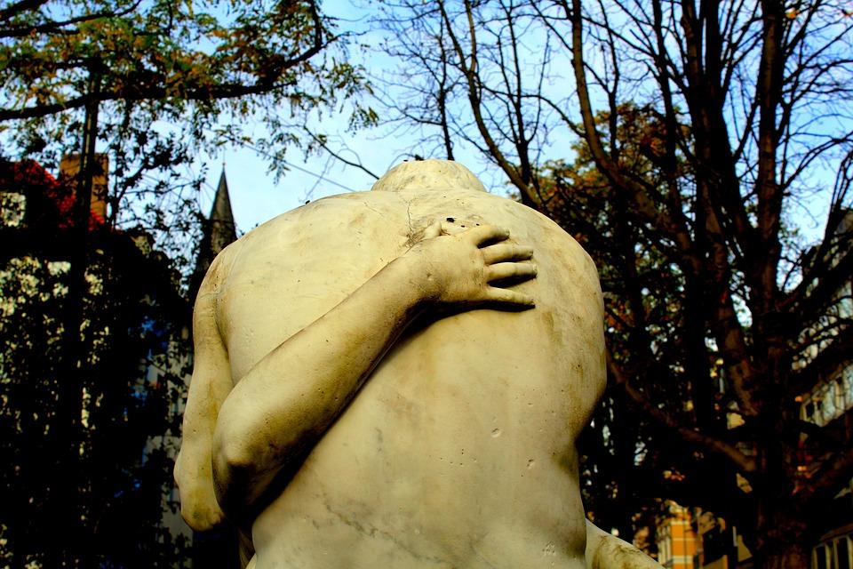 Sculpture, Flora Park, Düsseldorf, Art, Autumn, City