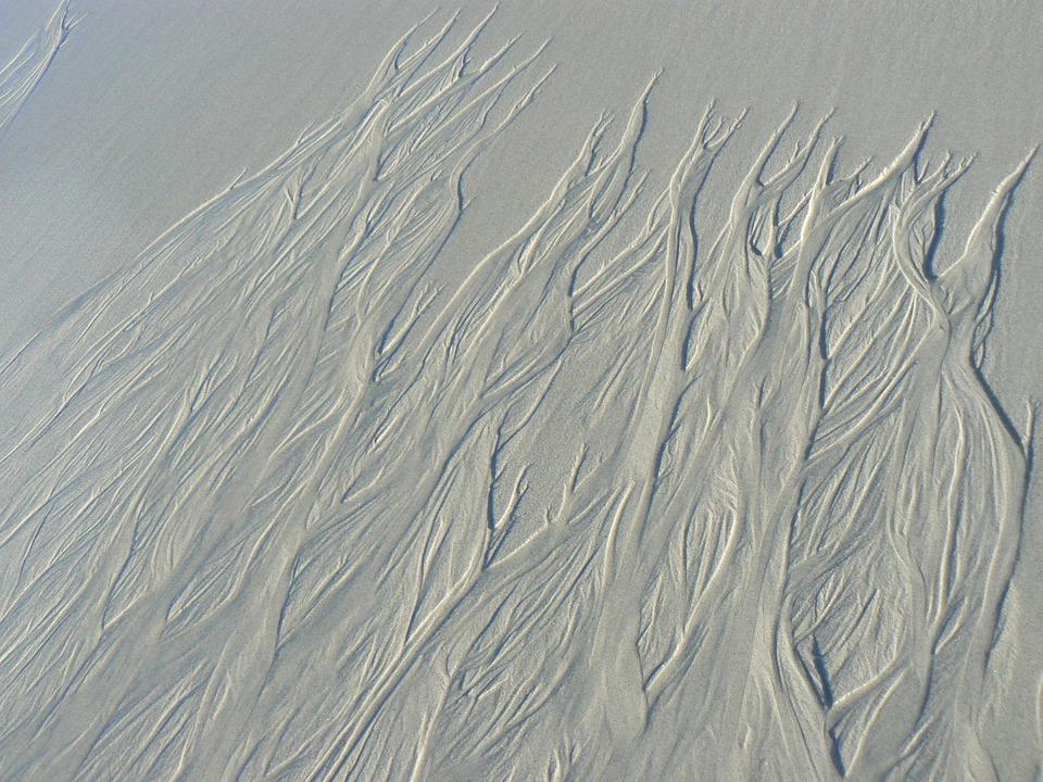 Sand, Waves, Natural, Art, Coast, Sea, California